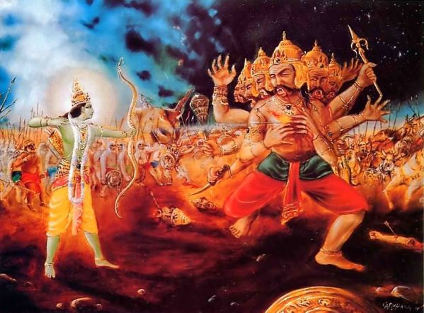 Ramayana-Rama-kills-Ravana-and-Crowsn-Vibhishana-as-King-of-Lanka